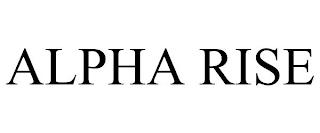 ALPHA RISE trademark