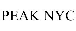 PEAK NYC trademark
