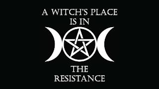 A WITCH'S PLACE IS IN THE RESISTANCE trademark