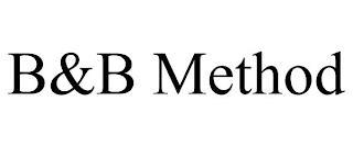 B&B METHOD trademark