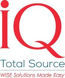 IQ TOTAL SOURCE WISE SOLUTIONS MADE EASY trademark