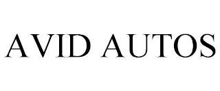 AVID AUTOS trademark