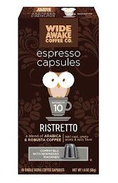WIDE AWAKE COFFEE CO. ESPRESSO CAPSULES RISTRETTO trademark