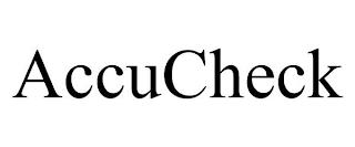 ACCUCHECK trademark