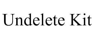 UNDELETE KIT trademark