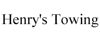 HENRY'S TOWING trademark