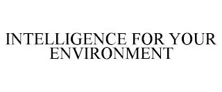INTELLIGENCE FOR YOUR ENVIRONMENT trademark