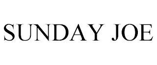 SUNDAY JOE trademark