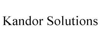 KANDOR SOLUTIONS trademark