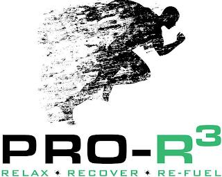 PRO-R3 RELAX · RECOVER · RE-FUEL trademark
