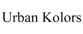 URBAN KOLORS trademark