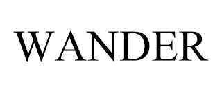WANDER trademark