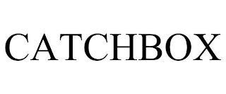 CATCHBOX trademark