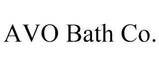 AVO BATH CO. trademark