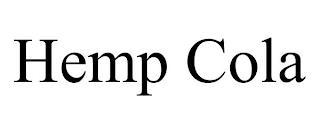 HEMP COLA trademark