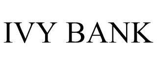 IVY BANK trademark