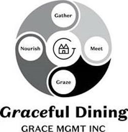 GATHER NOURISH MEET GRAZE G GRACEFUL DINING GRACE MGMT INC trademark