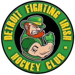 · DETROIT FIGHTING IRISH · HOCKEY CLUB D DFI trademark