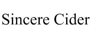 SINCERE CIDER trademark
