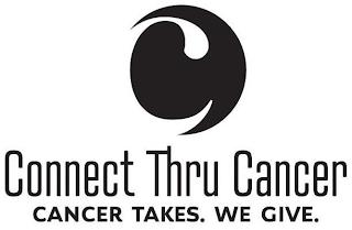 C CONNECT THRU CANCER CANCER TAKES. WE GIVE. trademark