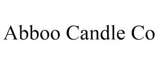 ABBOO CANDLE CO trademark