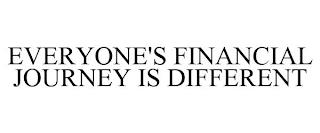 EVERYONE'S FINANCIAL JOURNEY IS DIFFERENT trademark