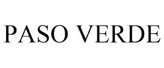 PASO VERDE trademark
