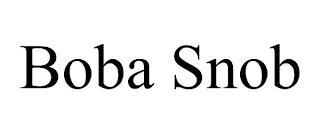BOBA SNOB trademark