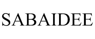 SABAIDEE trademark