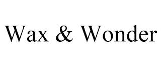 WAX & WONDER trademark