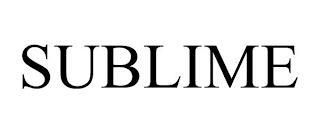 SUBLIME trademark
