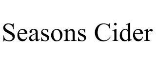SEASONS CIDER trademark