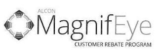 ALCON MAGNIFEYE CUSTOMER REBATE PROGRAM trademark