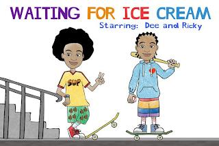 WAITING FOR ICE CREAM STARRING: DEE AND RICKY SUP trademark