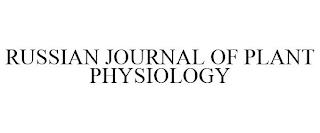 RUSSIAN JOURNAL OF PLANT PHYSIOLOGY trademark