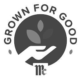 GROWN FOR GOOD MC trademark