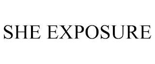 SHE EXPOSURE trademark
