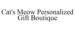 CAT'S MEOW PERSONALIZED GIFT BOUTIQUE trademark