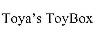 TOYA'S TOYBOX trademark