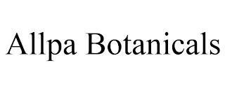 ALLPA BOTANICALS trademark