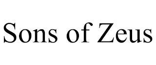 SONS OF ZEUS trademark