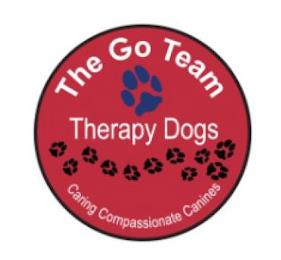 THE GO TEAM THERAPY DOGS CARING COMPASSIONATE CANINES trademark