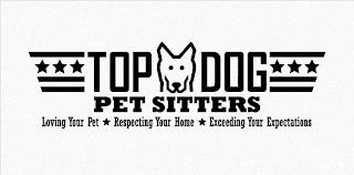 TOP DOG PET SITTERS LOVING YOUR PET RESPECTING YOUR HOME EXCEEDING YOUR EXPECTATIONS trademark