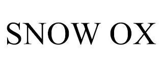 SNOW OX trademark