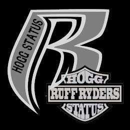HOGG STATUS R RUFF RYDERS HOGG STATUS trademark