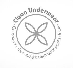 ·CLEAN UNDERWEAR· GO AHEAD - GET CAUGHT WITH YOUR PANTS DOWN trademark