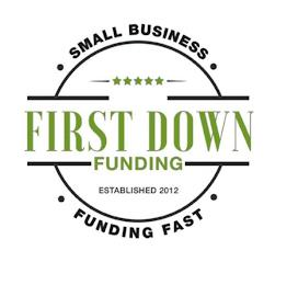 FIRST DOWN FUNDING · SMALL BUSINESS · FUNDING FAST · ESTABLISHED 2012 trademark