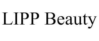 LIPP BEAUTY trademark