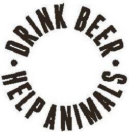 · DRINK BEER · HELP ANIMALS trademark
