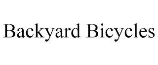 BACKYARD BICYCLES trademark